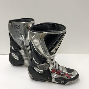 Troy Bayliss signed 2008 World SBK TCX Boots worn memorabilia collectibles