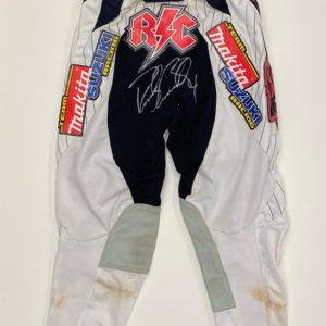 Ricky Carmichael Worn FOX Pants Signed Supercross memorabilia