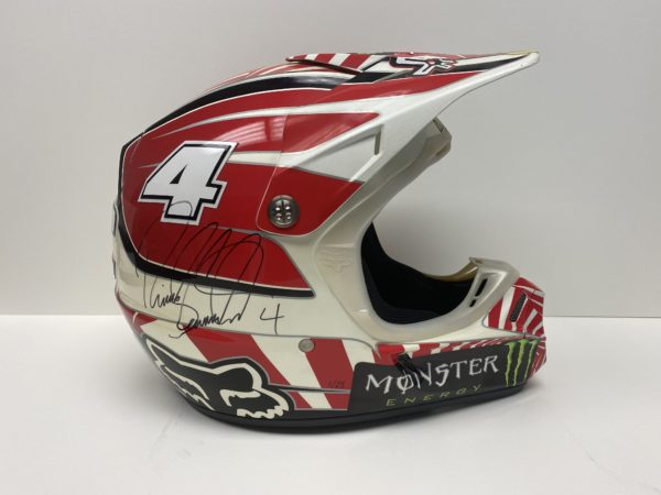 Ricky Carmichael Signed FOX helmet memorabilia collectibles