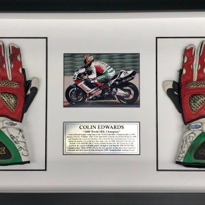 Colin Edwards 2000 World SBK worn Gloves signed memorabilia collectibles motogp