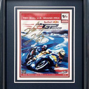 Nicky Hayden 2005 signed laguna seca poster memorabilia collectibles