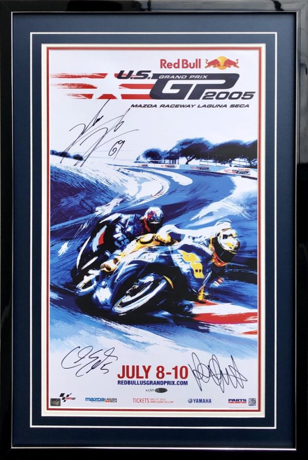 Nicky Hayden 2005 Laguna Seca poster signed memorabilia collectibles