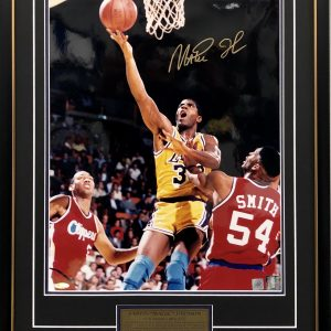 magic johnson signed lakers memorabilia