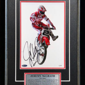 Jeremy McGrath signed Flying High Photo Supercross Honda