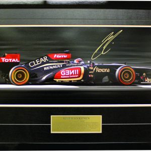 Kimi Raikkonen 2013 Lotus signed memorabilia and F1 collectibles