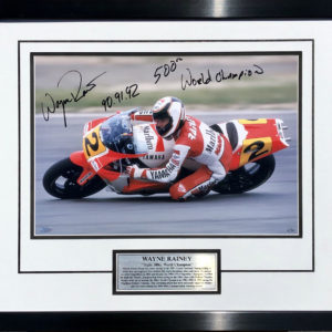 Wayne Rainey signed motogp 500cc memorabilia collectibles yamaha