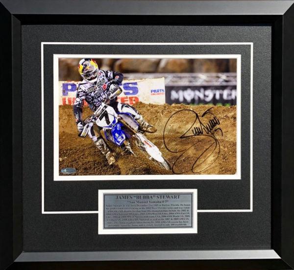 James Stewart 2009 AMA Motocross signed Yamaha Photo