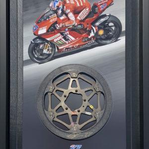 Casey Stoner Signed Dcuati Brake Rotor MotoGP Memorabilia