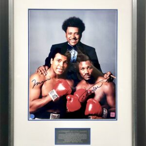 Don King with Muhammad Ali & Joe Frazier Signed Boxing Memorabilia