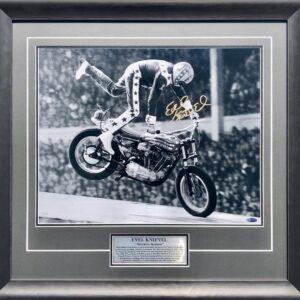 Evel Knievel Signed Wembley Stadium Signed Memorabilia