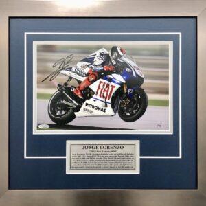 Jorge Lorenzo 2010 MotoGP Yamaha signed Memorabilia