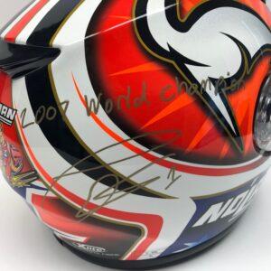 Casey Stoner 2007 Signed World Champion Helmet MotoGP Memorabilia