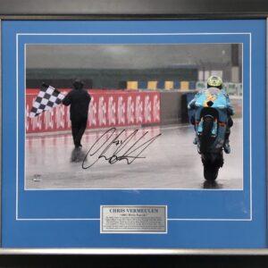 Chris Vermeulen Signed MotoGP LeMans Victory Memorabilia MotoGP