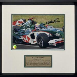 Mark Webber 2004 Jaguar signed F1 Photo memorabilia