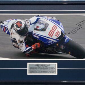 Jorge Lorenzo 2009 Signed MotoGP Yamaha Memorabilia