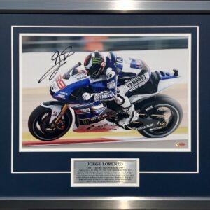 Jorge Lorenzo 2013 Signed Yamaha MotoGP Memorabilia Full Speed