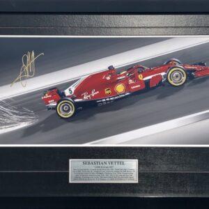 Sebastian Vettel Signed Ferrari Memorabilia
