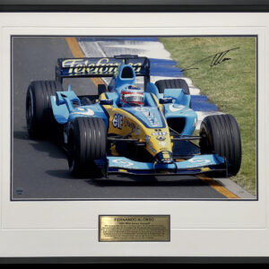 Fernando Alonso Signed Renault F1 Memorabilia