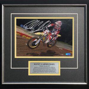 Ricky Carmichael Signed AMA Suzuki Memorabilia