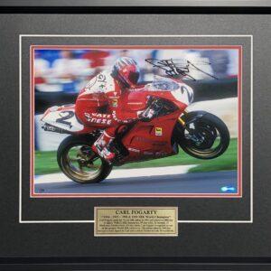 Carl Fogarty Signed Ducati World SBK Memorabilia