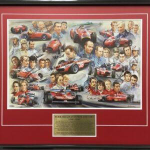 Ferrari Signed Formula 1 memorabilia