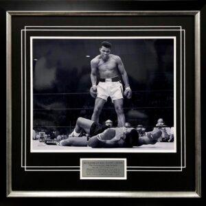 Muhammad Ali v Sonny Listin Boxing memorabilia signed