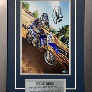 Chad Reed Signed AMA memorabilia photo yamaha