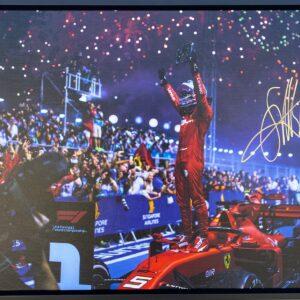 Sebastian Vettel signed Ferrari 2019 singapore victory Ferrari memorabilia