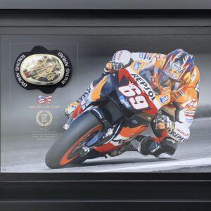 Nicky Hayden 2006 signed Repsol Honda MotoGP Memorabilia Knee Slider
