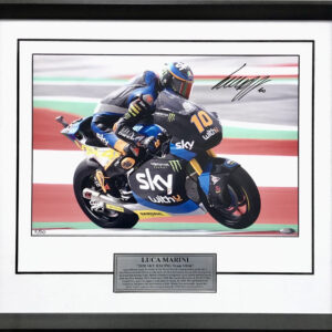Luca Marini Signed MotoGP Photo Memorabilia
