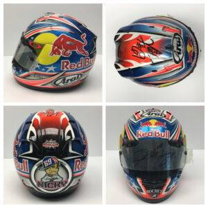 Nicky Hayden 2008 Worn ARAI Repsol Honda Helmet
