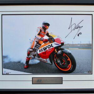 Marc Marquez MotoGP signed memorabilia repsol honda
