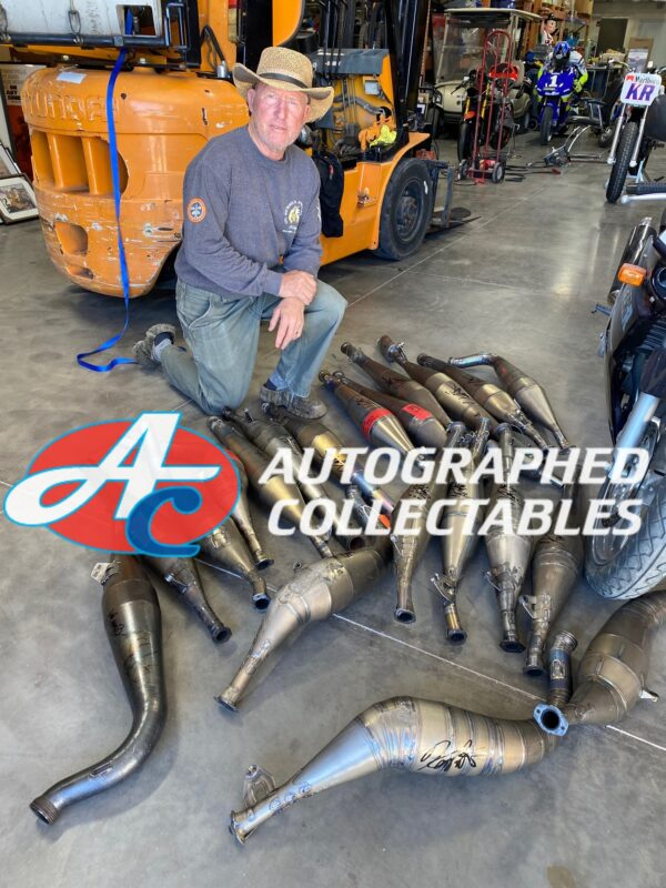 Kenny Roberts Signed MotoGP Proton Exhausts