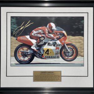 Eddie Lawson signed Yamaha memorabilia MotoGP