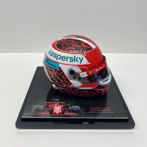 Charles Leclerc 2020 Mini Helmet signed Ferrari