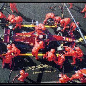 Charles Leclerc 2020 Ferrari 1000th Grand Prix signed memorabilia