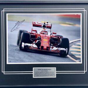 Kimi Raikkonen signed F1 Ferrari memorabilia