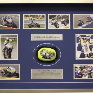 Valentino Rossi Yamaha Memorabilia 2009 Knee Slider signed