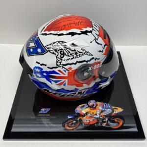 Casey Stoner 2011 Helmet signed MotoGP Memorabilia Repsol Honda