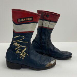 Kenny Roberts Snr 1982 Worn Boots Alpinestars MotoGP Memorabilia