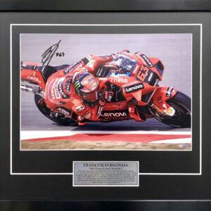 Pecco Bagnaia 2021 Signed Ducati Photo MotoGP Memorabilia