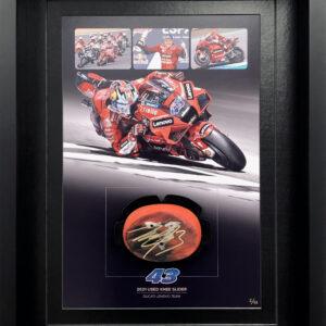 Jack Miller 2021 Knee Slider Ducati MotoGP Framed