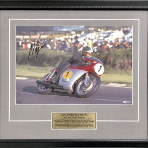 Giacomo Agostini 1970 MV Agusta signed memorabilia