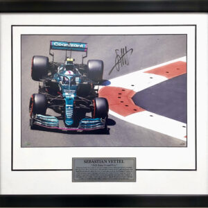 Sebastian Vettel 2021 Aston Martin signed F1 memorabilia