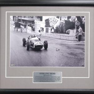 Stirling Moss Monaco F1 signed memorabilia