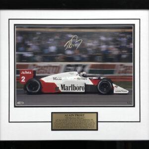 Alain Prost signed McLaren Photo Framed signed F1 memorabilia
