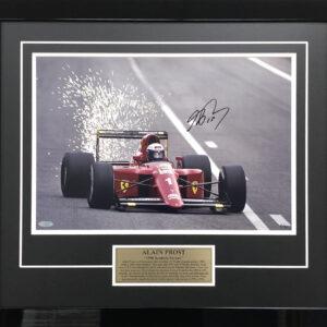 Alain Prost Signed F1 Memorabilia Ferrari McLaren